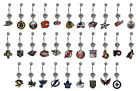 NHL Hockey Belly Button Navel Ring - PICK YOUR TEAM - BRAND NEW - Ships Today! $19.99 USD on eBay