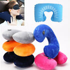 Inflatable Foam U Shaped Travel Pillow Neck Support Head Rest Airplane Cushion