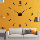 3 Colors Modern DIY Large Number Wall Clock 3D Mirror Surface Sticker Home Decor