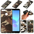 For Huawei Y6 Prime 2018 Camouflage Slim Soft Rubber TPU Silicone Case Cover