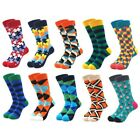10Pairs/Lot High Quality Mens Socks Multi Colored Combed Cotton Sock For Boys