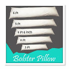Duck Feather And Down Extra Filled Bolster Pillows 100% Cotton Cover All Sizes