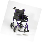 Days Escape Lite Aluminium Wheelchair, Lightweight and Foldable Frame, Attendant