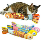 Catnip Cat Toys Squeaker Sound Interactive Stuffed Mint Kitten Play Fish Toys