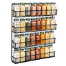 Chicken Wire Spice Rack [4 Tier] Wall Mounted Spice Rack Organizer, Rural Style