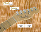 2 x Decalcomania Decal Fender Telecaster Chitarra Guitar Gold  Grey
