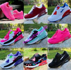 Women's Fashion Leather Casual Breathable Lace Up Sneakers Running Trainer Shoes