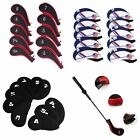 10Pcs Neoprene Sport Golf Club Iron Head Covers Putter Head Protective Set Case