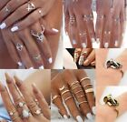 Silver Gold Finger Midi Knuckle Rings Bohemian Elephant Ethnic Turquoise Pearl