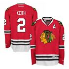 Duncan Keith Reebok Chicago Blackhawks Official Home Red Premier Jersey Mens