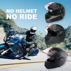 DOT Approved Safety Motorcycle Adult Helmet Dual Visor Full Face with Sun Shield