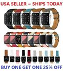 Genuine Leather Wrist Strap For Apple Watch Band 38/40/42/44mm Series 5 4 3 2 1 image