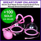 Electric Dual Nipple Suction Cupping Breast Pump Massage Breast Enlargement Set