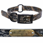 1″ Real Tree Camo Center Ring Dog Collar with Custom Name Tag ID Plate
