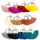 Kyпить Hoop Fan Tassel Earring Fringe Circle Round Drop Straw Boho Earrings на еВаy.соm