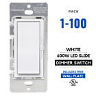 Внешний вид - AMZ | Single Decora Switch & 3-Way LED Side-Slide Dimmer Switch 600W