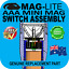 MAGLITE UPGRADE MINI 2AAA SWITCH ASSEMBLY FLASHLIGHT TORCH GENUINE PART AU