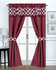 Elegant Embroidered 5 Pc. Window in a Bag Blackout Curtain Set - Assorted Colors
