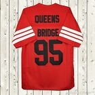 Prodigy #95 Hennessy Queens Bridge Movie Stitcked Men's Football Jersey Red