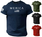 Kyпить Merica Army StyleT Shirt US Flag American Military Gun Top на еВаy.соm