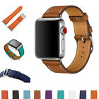 Genuine Leather Strap Band For Apple Watch Series 5 4 3 2 1 38mm 42mm 40mm 44mm image