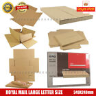 C4 A4 Size Max Royal Mail Large Letter Cardboard Postal Shipping PIP Boxes