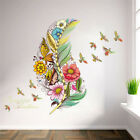 3d Vivid Feather Butterfly Birds Flower Stickers Home Decoration Pvc Wall Decals