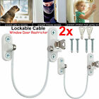 Baby Window Door Restrictor Safety Cable Locking UPVC Child Security Wire Cable