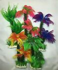 Artificial Plastic Aquarium plants - Palm Tree plant - Different Designs