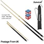 """57"""" WOODEN POOL SNOOKER BILLIARD CUES SET Cues with Screw Tips Stick £16.99 GBP on eBay"""