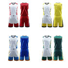 Men unisex Basketball Game Training Shorts Tops Suit Youth loose Breathable NEW