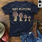 Mushroom Size Matters Men T-Shirt Black Cotton S-6XL image