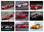 FERRARI CONCEPT SPORTS CARS POSTER PRINT COLLAGE WALL ART (fc1) - VARIOUS SIZES