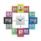 Aluminium Modern Multi 12 Picture Photo Frame Wall Collage Clock Hanging Clock