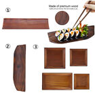 Portable Wooden Serving Tray With Handles Food Fruit Table Tray Coffee Plate