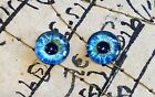 Taxidermy Glass Dragon, Doll, Teddy Eyes, Human Blue 10mm, 14mm, 16mm фото