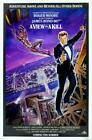 James Bond Poster//Vintage James Bond Movie Poster//A View to Kill Movie Poster/ $14.99 USD on eBay