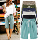Women Casual Loose Shorts Bermuda Capri Trousers Cropped Pants Summer Plus Size