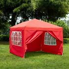 2.5x2.5m Sides Pop Up Marquee Gazebo Tent Garden Party Waterproof Windbars Bag
