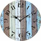 Grazing 12 Arabic Numerals ,Vintage Rustic Shabby Chic Style Round Wall Clock