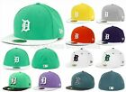 MENS NEW ERA FITTED HAT 59FIFTY DETROIT TIGERS MLB FLAT BILL EMBROIDERED LOGOS on Ebay