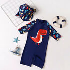Внешний вид - Summer Baby Toddler Boy's UPF 50+ Sun Protection Long Sleeve Swimwear Suits