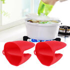 2pcs Silicone Oven Mitts Outdoor Home Cooking Pinch Grips Pan Holder Gloves