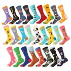 Men Women Sexy Colored US Size 7-12 Quality Fruits Animal Cotton Blend Socks