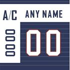 IIHF Olympic Hockey SOCHI 2014 Slovakia Navy Jersey Customized Number Kit