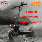 80KM/H Electric Scooter 60V 3200W Off Road Scooter 11 inch Two Wheels