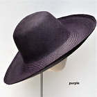 Colourful HAND-WOVEN Women's Wide Brim Genuine PANAMA Straw HAT from Ecuador