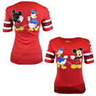 Disney Women's T-Shirt Mickey Mouse Donald Duck Top US Tee Cotton S M L XL NEW