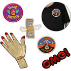 Embroidered Sew Iron On Patches Badge Hat Bag Fabric Applique Clothes Craft DIY