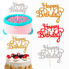 Внешний вид - 15 PCS Glitter Paper Happy Birthday Cake Topper Cupcake Dessert Decor Supplies
